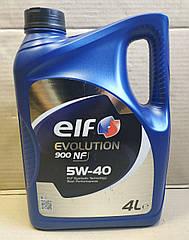 Моторное масло Renault Sandero 2 Elf 5w40 Evolution 900 NF (4л)(высокое качество)