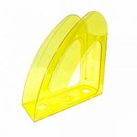 Лоток для паперів Economix вертикальний Веселка, пластик, лимонний