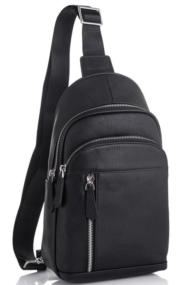Чоловічий шкіряний рюкзак на одне плече Tiding Bag SM8-811A