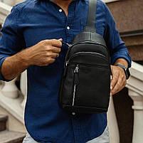 Чоловічий шкіряний рюкзак на одне плече Tiding Bag SM8-811A, фото 5