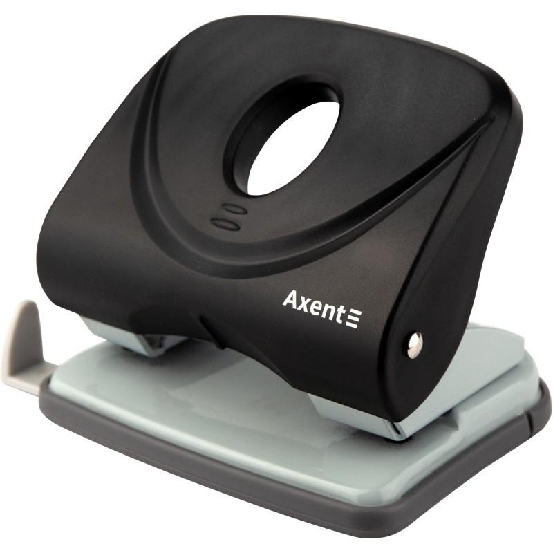 Діркопробивач AXENT (30арк) Welle-2 пластиковий, чорний