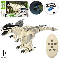 Динозавр M 5476 радіокер., акум., ходить, рухомі деталі, танцює, USB, муз., світло, кор., 51-28-20см