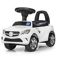 Каталка-толокар M 3147C (MP3) -1 багажник під сидінням, муз., бат., білий, 63,5-37-29 см.