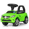 Каталка-толокар M 3147C (MP3)-5 багажник під сидінням, муз., бат., зелений, 63,5-37-29 див.