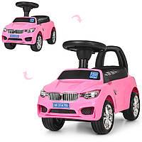 Каталка-толокар M 3147B (MP3)-8 MP3, багажник під сидінням, муз., бат., рожевий, 63,5-37-29 див.