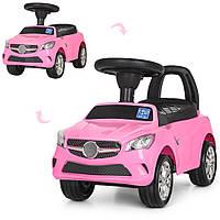Каталка-толокар M 3147C(MP3)-8 MP3, багажник під сидінням, рожевий, муз., бат., 63,5-37-29 см.