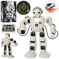 Робот UKA-A0104-1 акум., ходити, їздить, стріляє кулямі, USB, муз.(укр.), світло,кор.,31-44,5-12,5 см