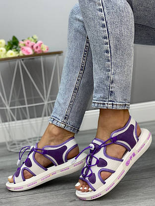 Відкриті босоніжки жіночі 8 пар в ящику фіолетового кольору 36-41, фото 3