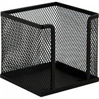 Куб під паперу для нотаток Buromax, металевий 10*10*10 см, чорний