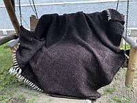 Карпатський ліжник плед Однотонний ЧОРНИЙ, фото 1