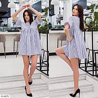 Молодежное короткое платье-туника мини свободного кроя большие размеры батал р-ры 48-54 арт. 5098