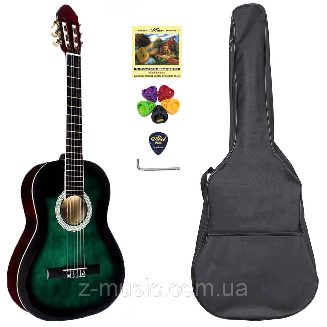 Гитара классическая полноразмерная (4/4) Almira CG-1702 GR (комплект)