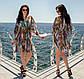 """Жіноча пляжна туніка до великих розмірів 173 """"Лео Абстракція"""" у кольорах, фото 5"""