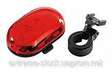 Мигалка задня Infini VISTA I-401R, 5 світлодіодів, 4 режиму, 2xAAA, с крепл.