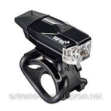 Мигалка передня Infini MINI LAVA I-261W-BK, 1 світлодіод, 4 режиму, USB кабель, с крепл.