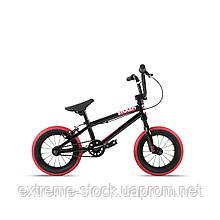 Велосипед 12 Stolen AGENT 13.25 2021 BLACK W/ DARK RED TIRES