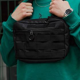 Нагрудная сумка Пушка Огонь Chest черная
