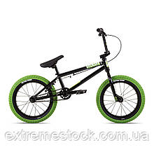 Велосипед 16 Stolen AGENT 16.25 2021 BLACK W/ NEON GREEN TIRES