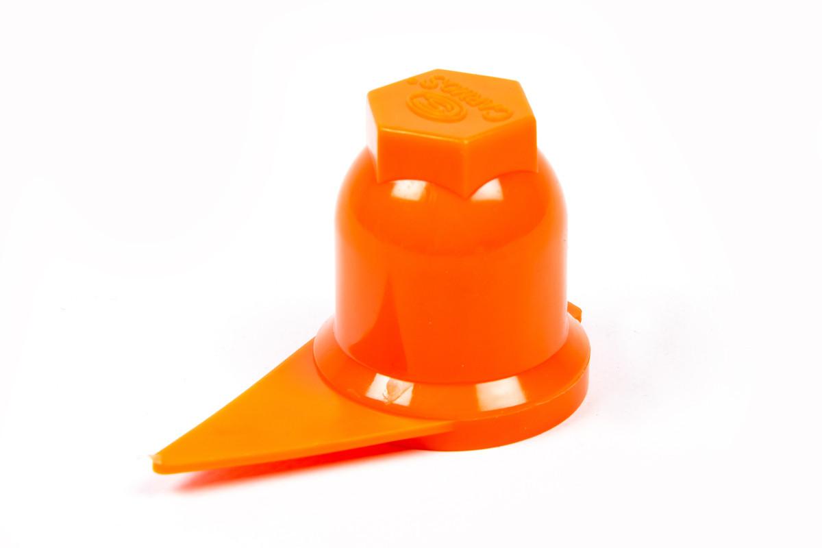 Ковпачок на гайку 32мм помаранчевий зі стрілкою