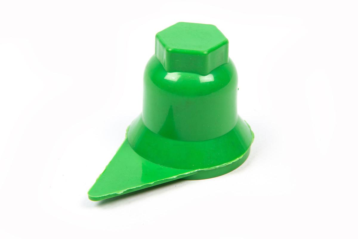 Ковпачок на гайку 32 зелений зі стрілкою