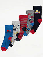 Набір дитячих шкарпеток з автомобілями 5 пар Джордж для хлопчика