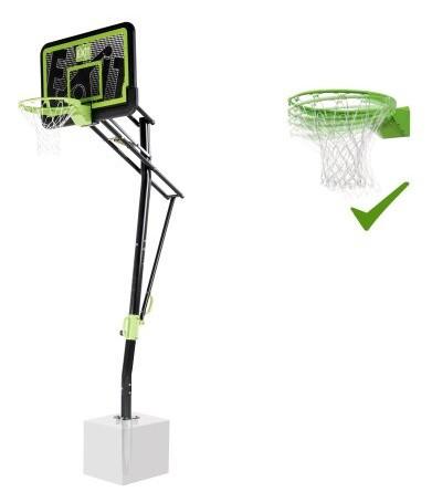 Баскетбольна стійка EXIT Galaxy black + кільце з амортизацією