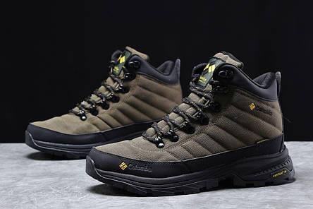 Зимние мужские кроссовки 31773, Columbia Contagrip, зеленые [ нет в наличии ] р.(41-26,5см), фото 2