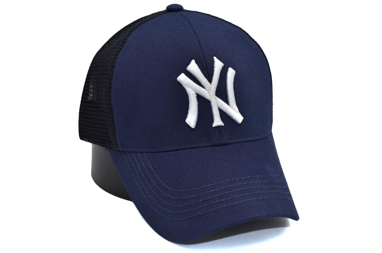 Бейсболка сітка Art cap New York Yankees 56-61 см синя (0919-534)