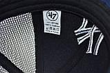Бейсболка сітка Art cap New York Yankees 56-61 см синя (0919-534), фото 4