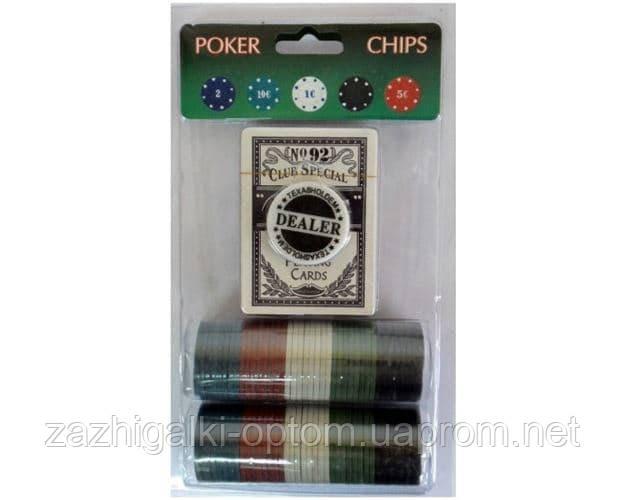 Фішки для покеру 80шт + колода карт 80Р-В