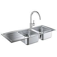 Набір Grohe мийка кухонна K500 31588SD0 + змішувач BauLoop 31368001