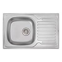 Кухонна мийка Qtap 7850 dekor 0,8 мм (QT7850MICDEC08), фото 1
