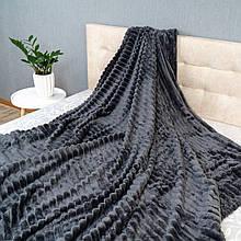 Плед Шарпей Colorful Home Темно-сірий двоспальний 180х200