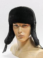 Меховая шапка ушанка из норки.