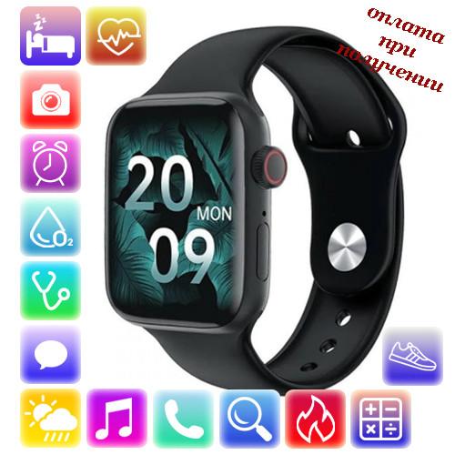 Умные Smart Watch смарт фитнес браслет часы трекер на РУССОКОМ в стиле Apple Watch Series 6 (HW22 Pro)