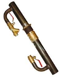 Байпас сталевий для опалення довгий з латунним клапаном 40