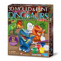 Набір для створення 3D-фігурок з гіпсу Динозаври 4M (00-04777), фото 1