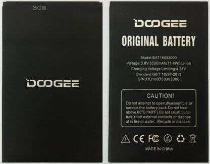 Аккумулятор (Батарея) для Doogee X9 Pro BAT16533000 (3000 mAh)