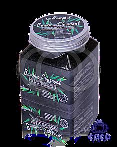 Сольовий скраб для обличчя і тіла Bamboo Charcoal Face & Body Scrub з бамбуковим вугіллям 500 G