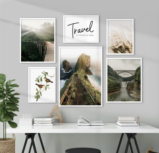 Набор постеров на стену Зеленая природа