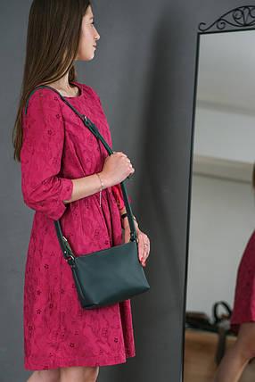 Женская кожаная сумка Лето, натуральная кожа Grand, цвет Зеленый, фото 2
