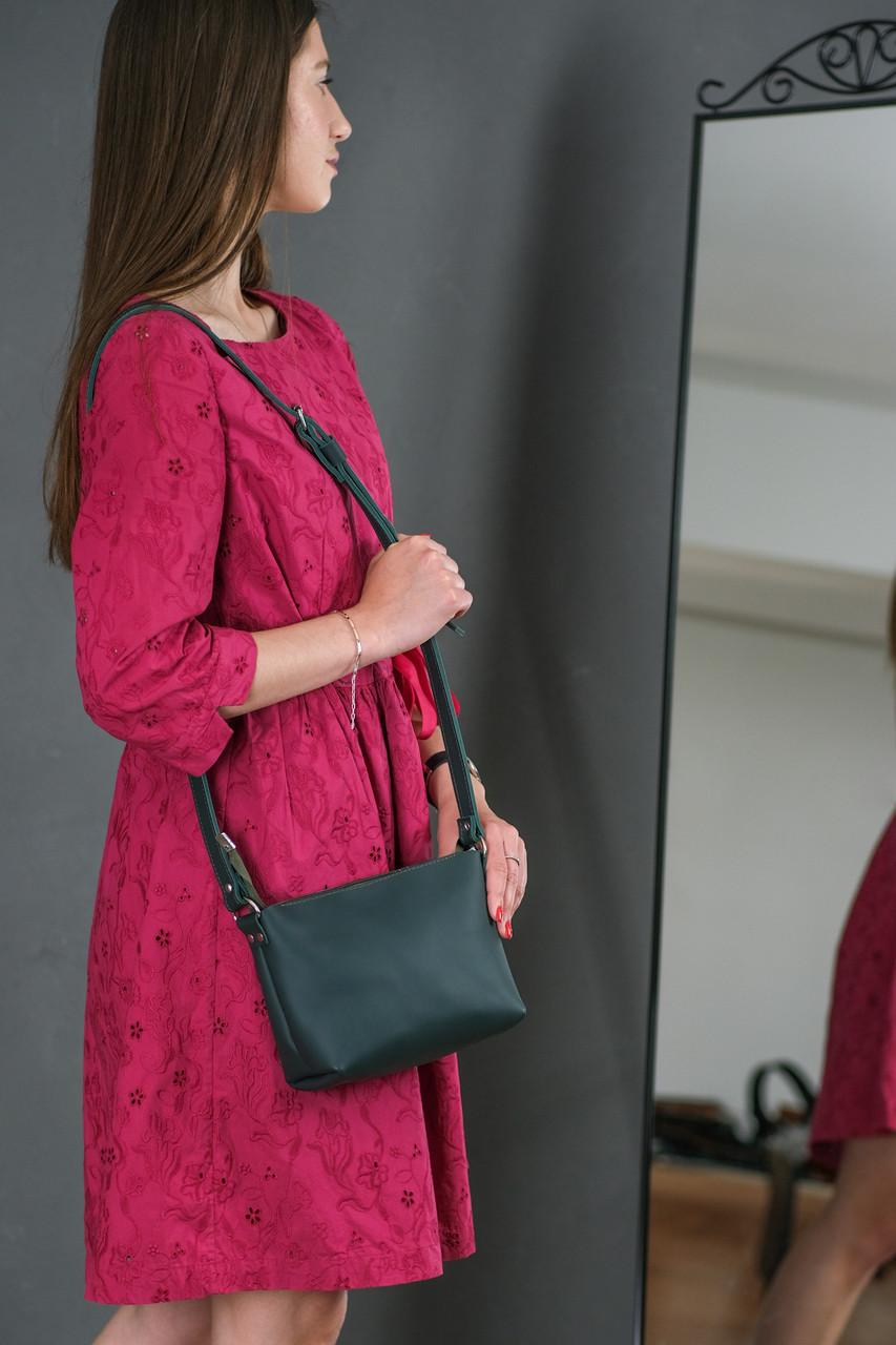 Женская кожаная сумка Лето, натуральная кожа Grand, цвет Зеленый
