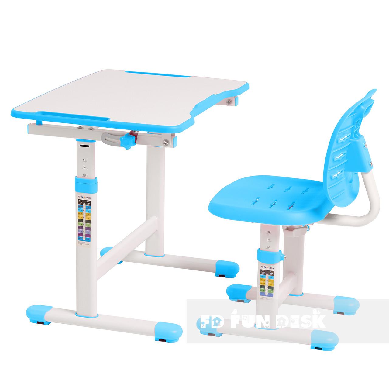 Комплект парта + стул трансформеры Omino Blue FunDesk