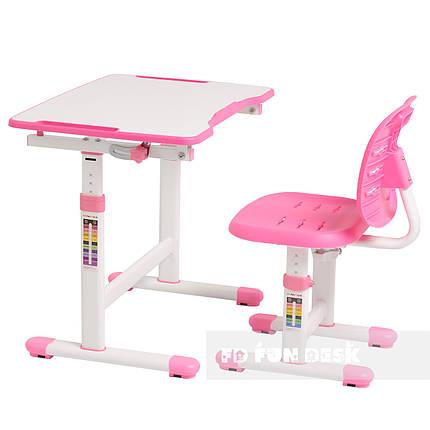 Комплект парта + стул трансформеры Omino Pink FunDesk, фото 2