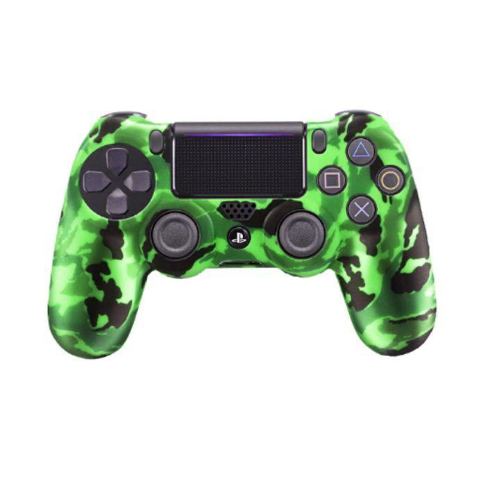 Силіконовий чохол для джойстика Sony PlayStation PS4 Type 1 Camouflage Green тех. пак