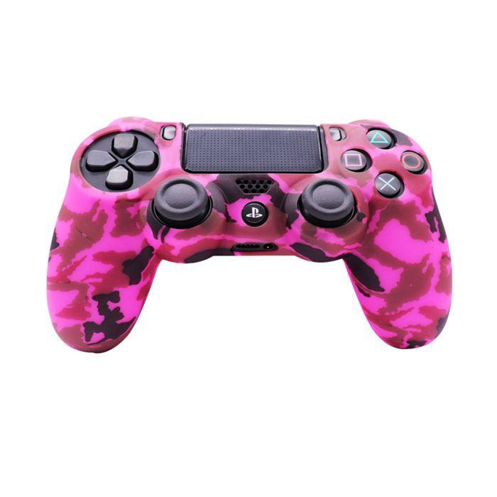 Силиконовый чехол для джойстика Sony PlayStation PS4 Type 1 Camouflage Pink тех.пак