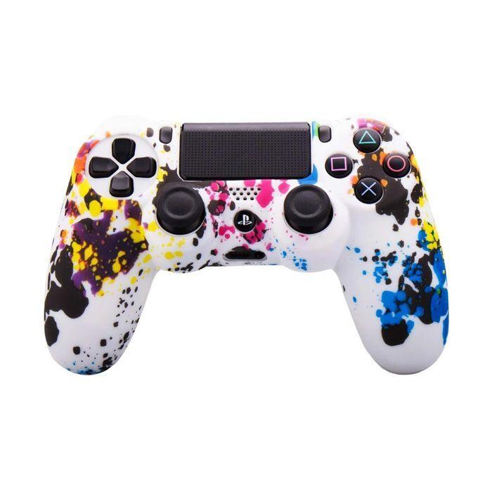 Силіконовий чохол для джойстика Sony PlayStation PS4 Type 1 Firework White тех. пак