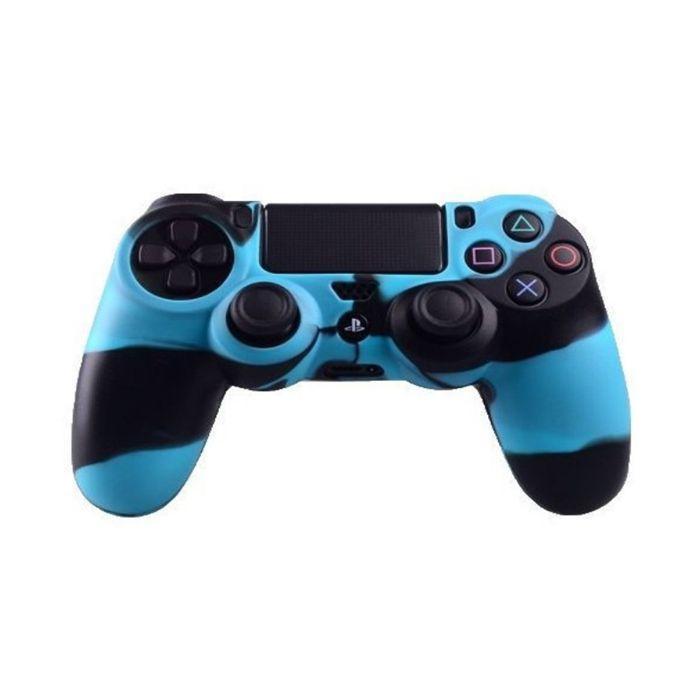 Силиконовый чехол для джойстика Sony PlayStation PS4 Type 2 Camouflage Black/Blue тех.пак
