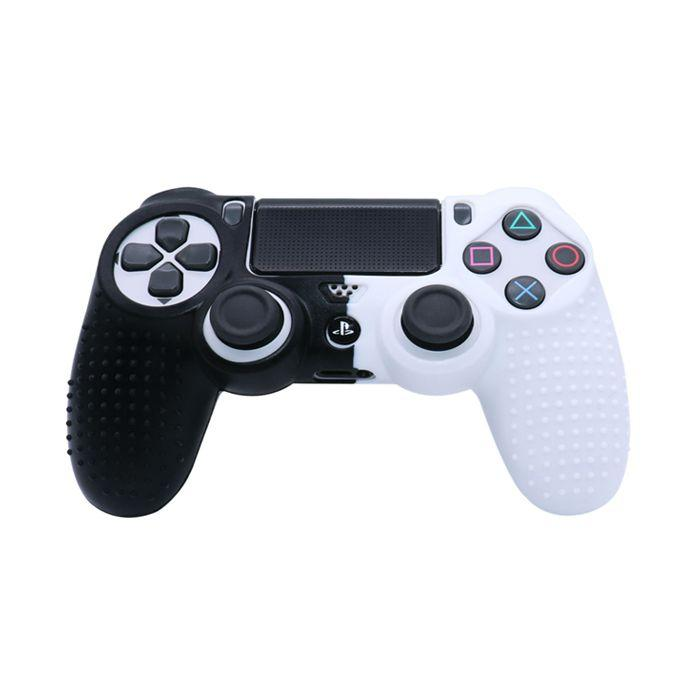 Силіконовий чохол для джойстика Sony PlayStation PS4 Type 3 Black/White тех. пак