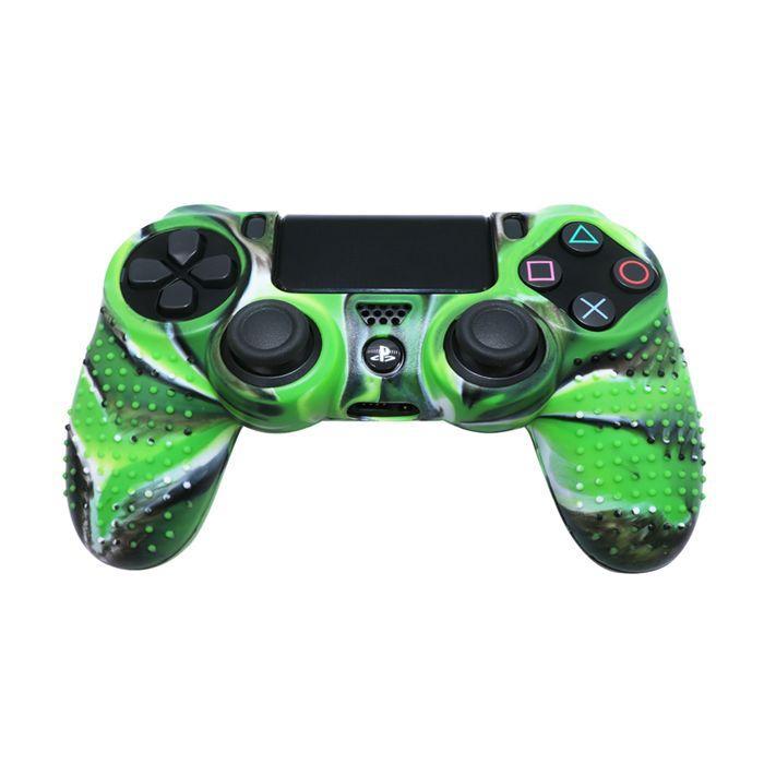 Силиконовый чехол для джойстика Sony PlayStation PS4 Type 4 Green Camo тех.пак